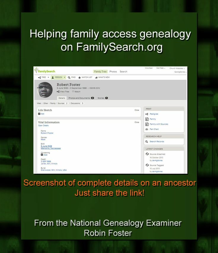 Sharing has never been easier! Helping family access genealogy on…