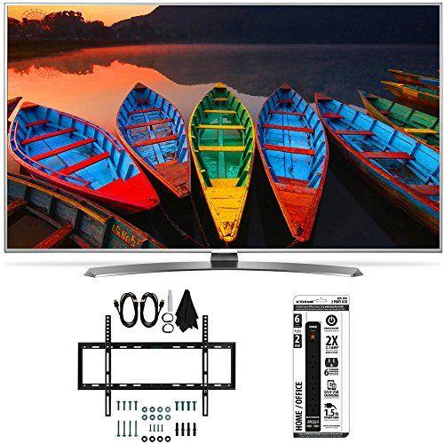 60' Class (59.5' Diagonal) Super UHD 4K Smart LED TV w/ webOS 3.0 Bundle Includes LG 60UH7700 60-Inch Super UHD 4K Smart TV Slim Flat Wall Mount Kit Ultimate Bundle for32-60 inch TVs 6 Outlet Po...
