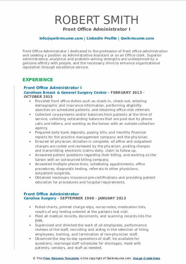 Front Office Administrator Resume Samples Qwikresume In 2020 Security Resume Teacher Resume Examples Good Resume Examples