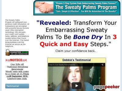 Sweaty Palms Program - How To Beat Sweaty Palms