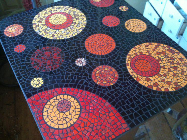 Mesa de mosaico mosaic tables countertops pinterest for Mesas de mosaico