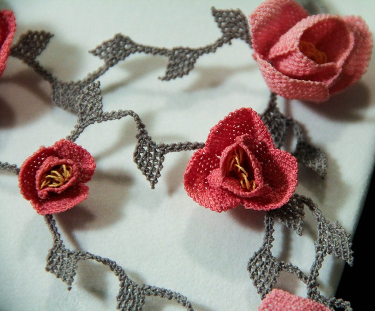 turkish #oya #needlelace - $99.50, via Etsy.