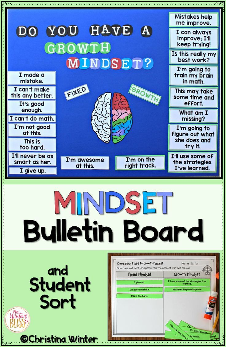 This growth mindset bulletin board idea is designed to be an interactive resource for your classroom and will encourage students to change their mindsets from a negative, fixed to a positive, growth mindset all year long! Everything in this photo and MORE is ready for you to start using in your classroom!  #growthmindset