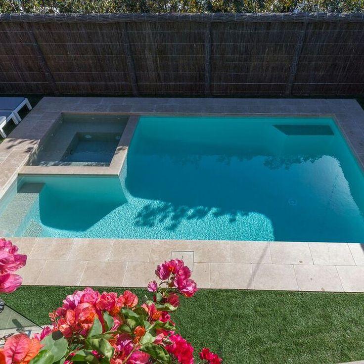 Amber Tiles Kellyville: pinned from Instagram (@coastsidepools). Limestone pool and spa. #limestone #pool #poolsurround #poolinspiration #naturalstone #ambertiles #ambertileskellyville