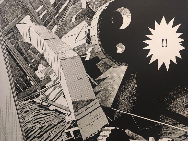 """Keisuka Ora's glorious concrete self-build in Tokyo as Manga cartoon panels. @BarbicanCentre"""