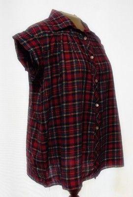 Vintage 50s Cotton Rockabilly Maternity Blouse Top Plaid M Trapeze | eBay