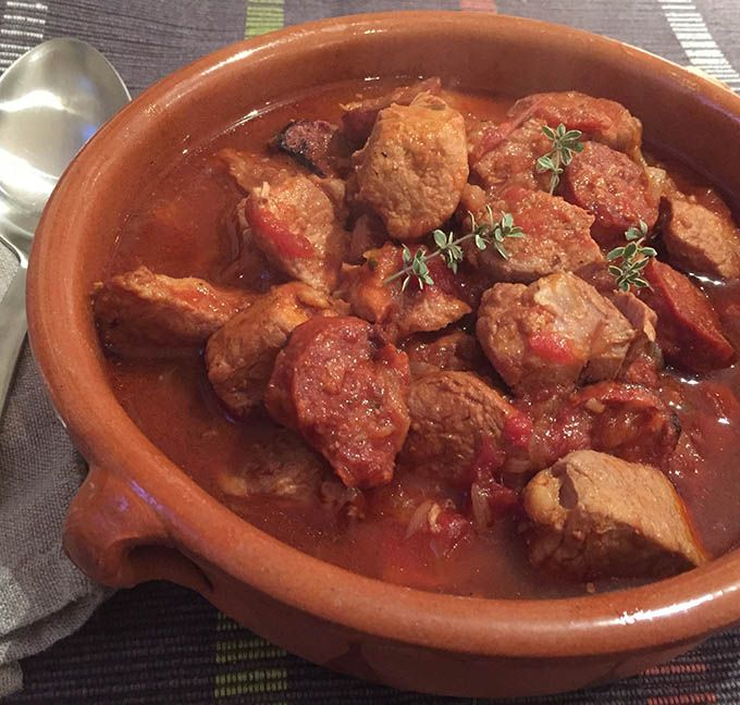 A rich flavour packed pork casserole cooked in the pressure cooker or on the hob.