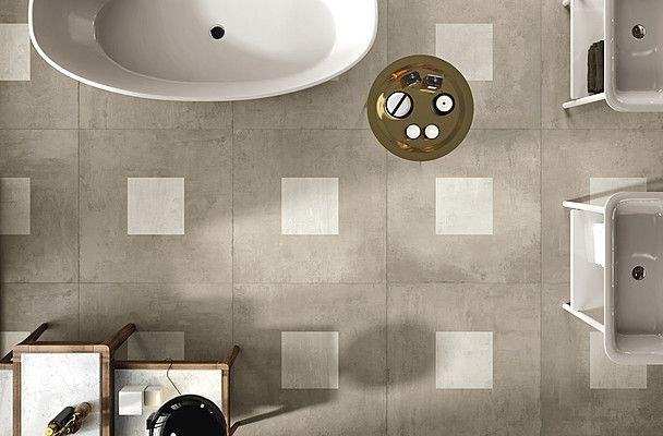 La Faenza Ceramica Ego Ego (LA FAENZA)-LA FAENZA-2 , Living room, Bathroom, Concrete effect, Wood effect, Porcelain stoneware, wall & floor, Matte, Rectified