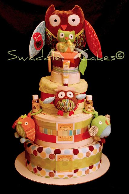 I will make you this Owl Diaper cake when you decided to breed!