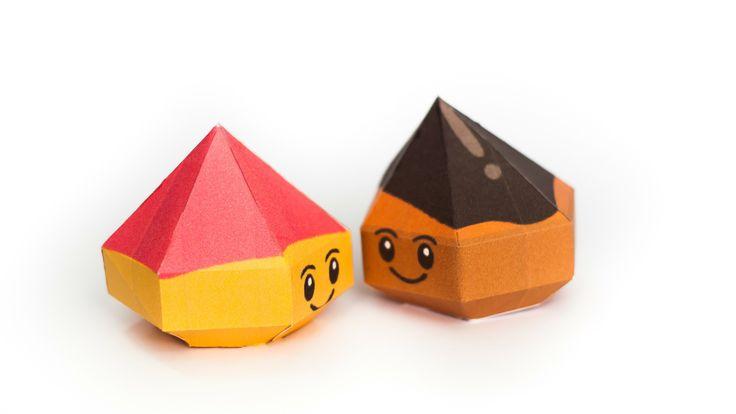 วิธีทำโมเดลกระดาษตุ้กตา ช็อกโก้ดรอป และ ชีสดรอป จากเกมส์คุกกี้รัน (LINE Cookie Run Chocodrop & Cheesedrop Papercraft Model) - mookeep.com