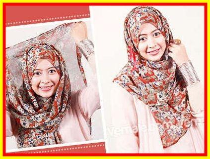 Tutorial Hijab Pashmina Sifon tanpa Ninja yang Modern dan Casual   arenawanita.com