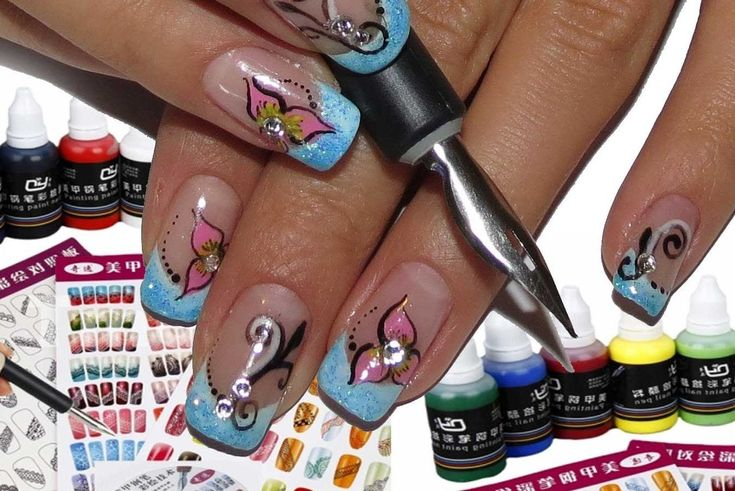 Tmart,Nail Art Pen Set with Painting Pigment Review and Tutorial,how to use pen nibs