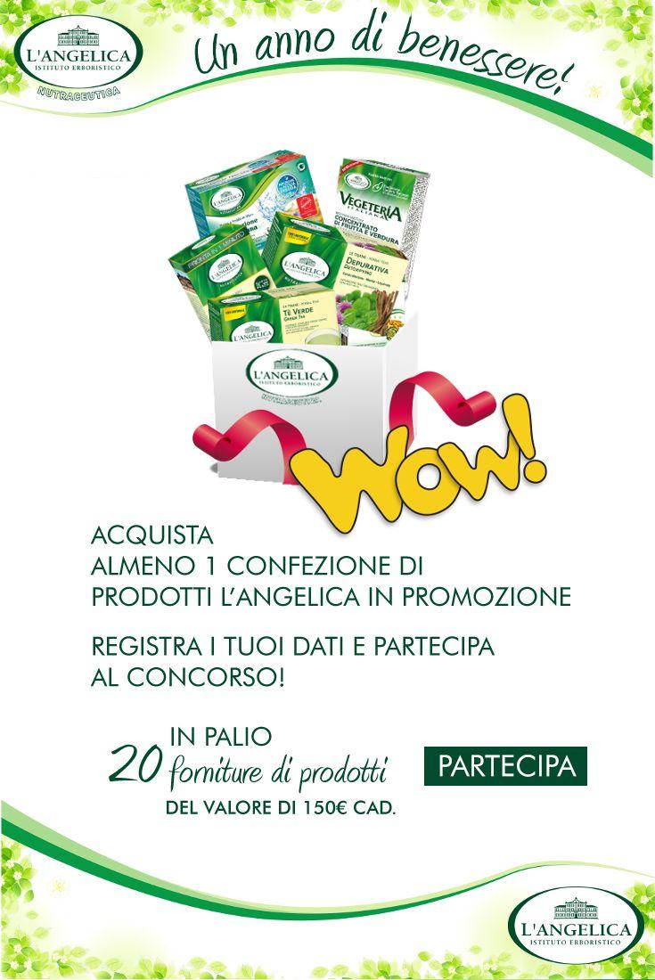 #Acquista un #prodotto l'Angelica della linea #integratori e scopri subito se hai vinto una fornitura di prodotti del valore di 150 €