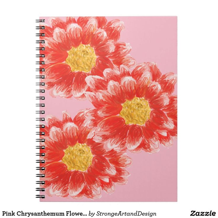 Pink Chrysanthemum Flower Photo Notebook