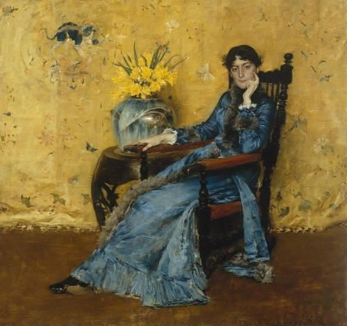 Dora Wheeler is resting at the Cleveland Museum of Art... my favorite place to go when I want to hang out with my favorite artists! Of course, most of them are dead but their art speaks just fine for them.
