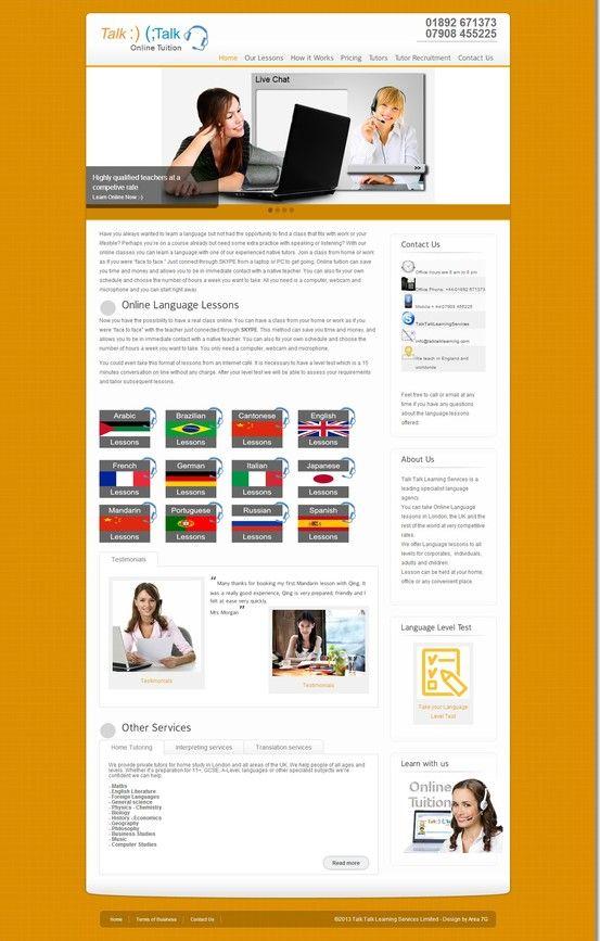 Desarrollamos un nuevo sitio para Talk Talk Learning Services LTD. Sitio Web onlinetalktalklearningservices.com