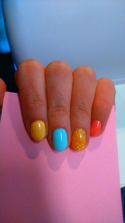 Spring nails #color #spring #nails #cheerful #happy