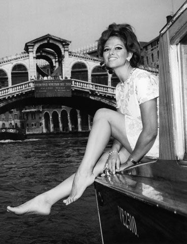 Claudia Cardinale on Canal Grande in 1967