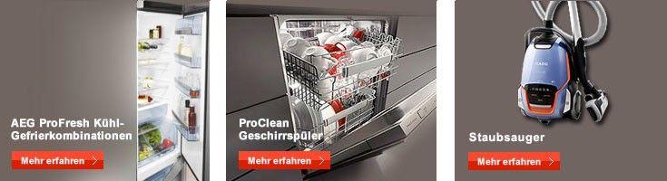 Elektro-Großgeräte aus großartigem Angebot von AEG Markenshop, Reiniger & Zubehör, #Geschirrspüler, #Kühlgeräte, Herde & Dunsthauben