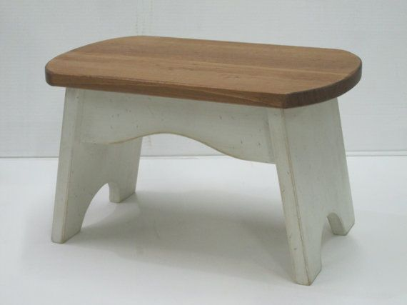 Wooden Step Stool for Kids / Step Stool / by HarvestTreasuresInc