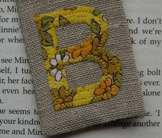 Handmade Personalised Bookmark by HomebirdTextiles on Etsy, £6.00