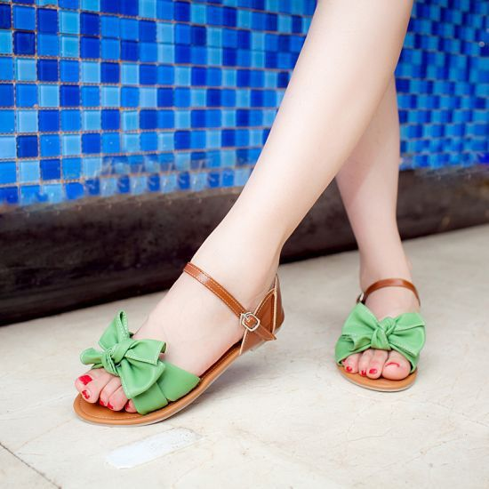 Sweet Bowknot Cute Flat Sandals Shoes