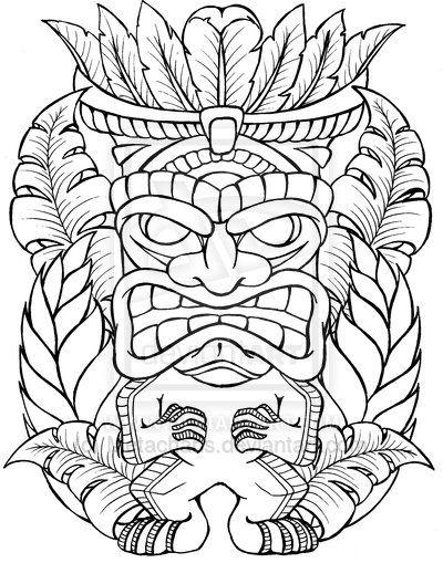 Tiki Man Tattoo by Metacharis.deviantart.com on @DeviantArt
