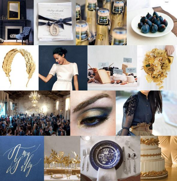Help with Wedding Colors! Champage Theme :  wedding august 2013 champagne theme colors wedding party Navy Gold Prettywedding