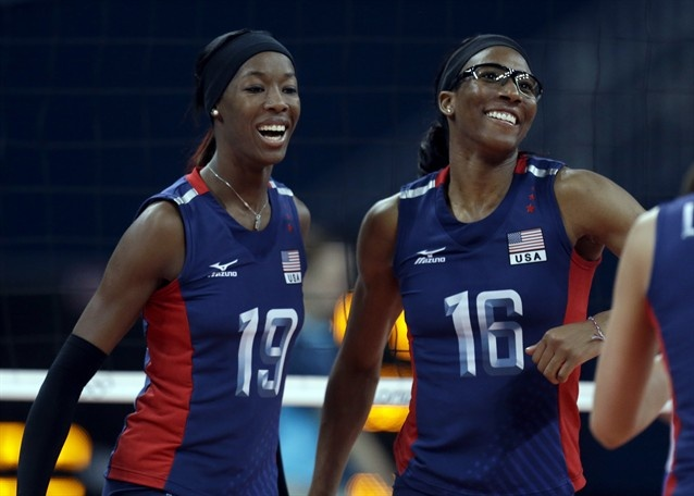 Women's Group B: United States vs. Serbia - Volleyball Slideshows | NBC Olympics...these women are amazing