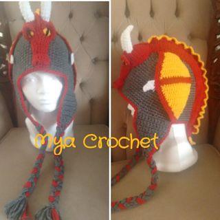MYA CROCHET: Impresionante gorro con dragón