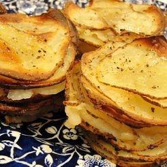 Muffin Tin Potato Gratin... individual potato gratin... for a nice change at the holidays...