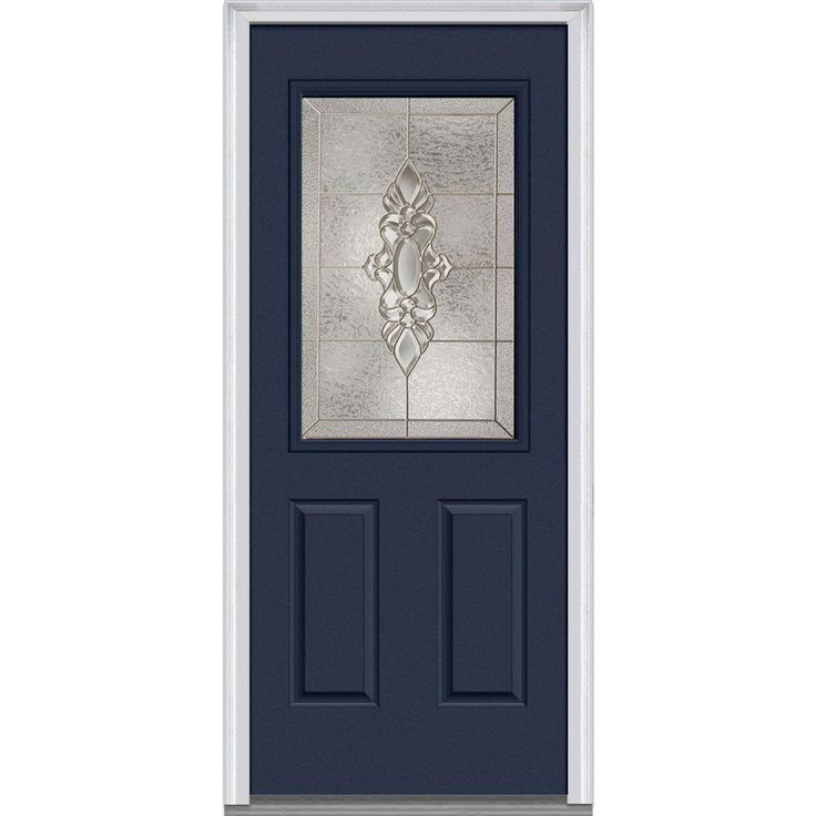 Best of Feather River Doors 63 5 in x81 625in Mission Pointe Zinc 3 4 Oval Lt Unfinished Smooth Right Hd Fiberglass Prehung Front Door w Sidelights Amazing - Amazing Steel Entry Doors with Glass In 2019