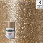 Testors CreateFX 2.5 oz. Gold Glitter Spray Paint (3-Pack), Gold/Gloss