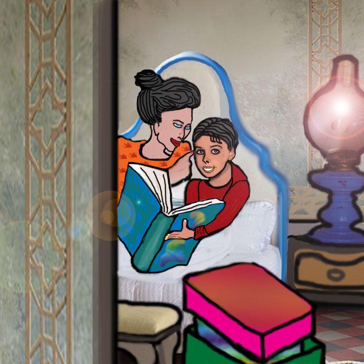 LETTURA NOTTURNA Nel volume Dalla parte di Swann, la mamma rimane con Marcel  e gli legge uno dei racconti che di li a poco dovevano essere il suo regalo di natale
