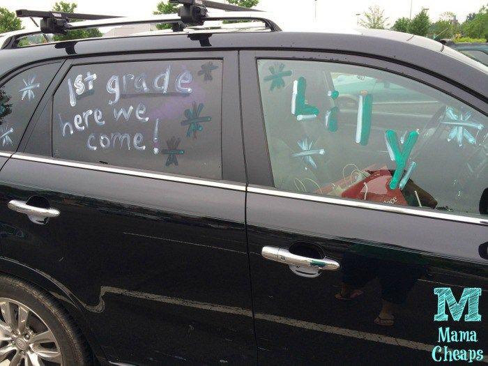 last day of school car window paint
