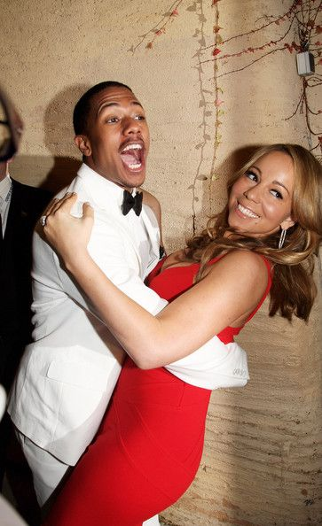 Nick Cannon (UK TABLOID NEWSPAPERS OUT) Mariah Carey and Nick Cannon backstage at the World Music Awards held at the Sporting Club on Novemb...