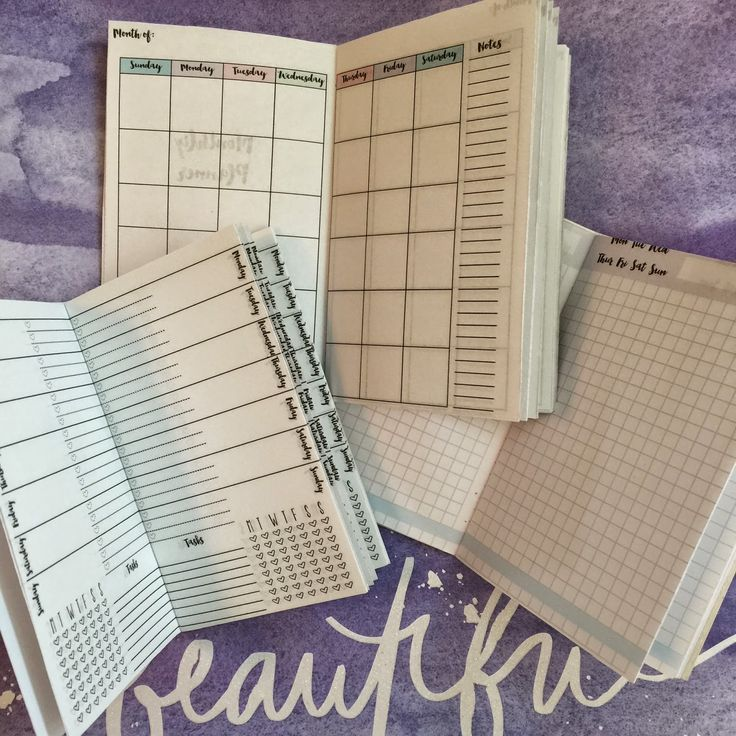 Midori Inserts Printables (Monthly, Weekly & Daily Planners)