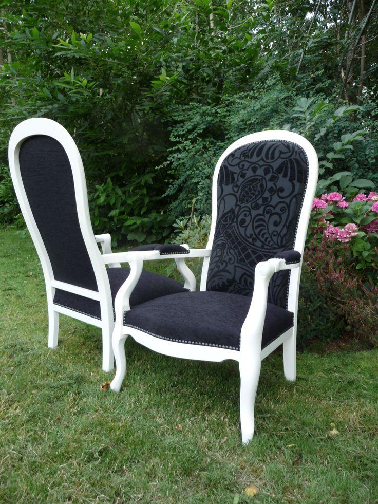 fauteuils voltaire contemporains r nov s tissu client. Black Bedroom Furniture Sets. Home Design Ideas