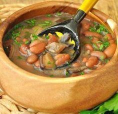 Тосканский грибной суп с фасолью