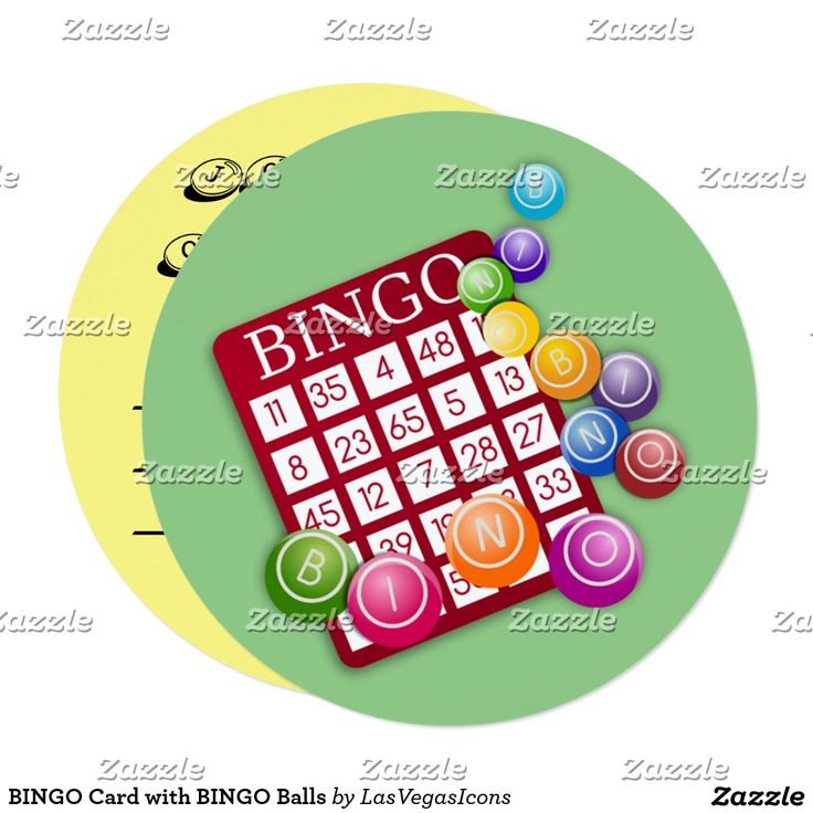 BINGO Card with BINGO Balls Invitation - #LasVegasIcons # ...