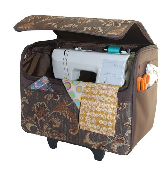 sewing machine tote on wheels