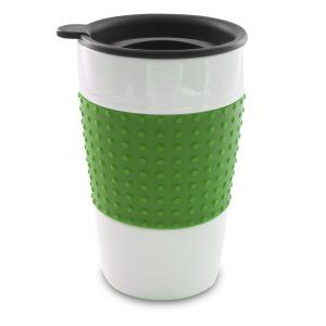 Smart Planet EC-7TM Eco Travel Mug with Green Sleeve and Black Drink Through Twist Lid, 12-Ounce This ceramic double wall mug, has a green slip-resistant sleeve. The deep mug has a twist-on and drink-through lid. It is the perfect size to fit in your cup holder. It does not change the taste of your tea, coffee or soup. http://theceramicchefknives.com/ceramic-mug-lid/ 12-Ounce, 12-Ounce Eco Travel Mug, Black, Blue, Cafe Mocha Vodka Insulated Travel Mug, Ceramic Mug With Lid,