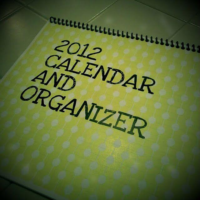 2012 Calendar and Organizer- Free Printable