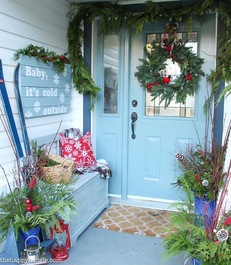 classic-red-plaid-christmas-front-porch-and-entry-hall-58