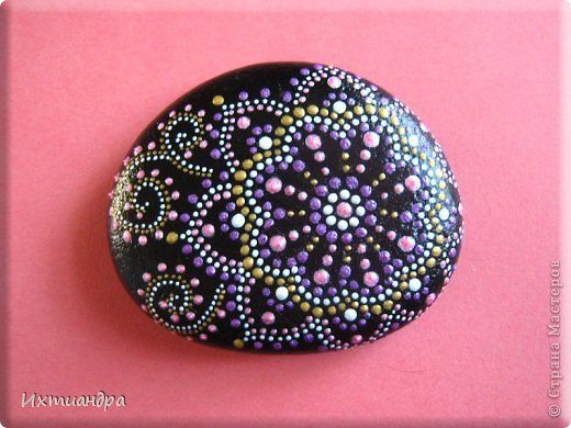 Поделка изделие День рождения Роспись Цветы растущие на камнях Краска Материал природный фото 13