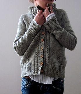 Aileas cardigan by Isabell Kraemer. Aileas is worked seamlessly from the top down and features decorative faux cables on both fronts, the back and sleeves. The pattern is €5.50 EUR on Ravelry. Visit soon, you might win one...