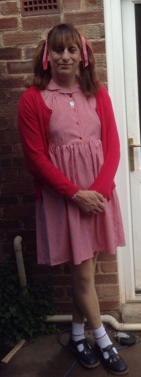 Let's show the sissy kenneth taylor in his girls shoes white ankle socks his little girls red gingham school dress if he wants to be seen as a sissy little girl every one should help him reblog him and give him no choice ever again but to be seen as the sissy he is now and forever