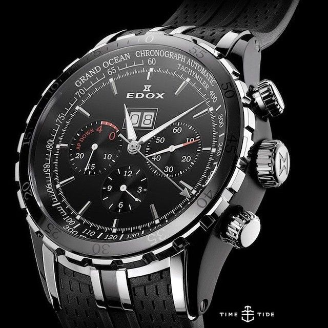 Edox is Official Timekeeper of the Extreme Sailing Series (as well as the Dakar Rally) and today we're off to Sydney to sail and speak to Managing Director Alexandre Strambini. Pictured is the Grand Ocean Special Edition Extreme Sailing Series, a 48m