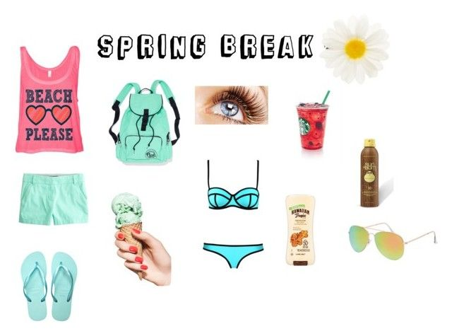 """""""SPRING BREAKERS"""" by ernab ❤ liked on Polyvore featuring J.Crew, SwimSpot, Accessorize, Milly, Sun Bum, Hawaiian Tropic and With Love From CA"""