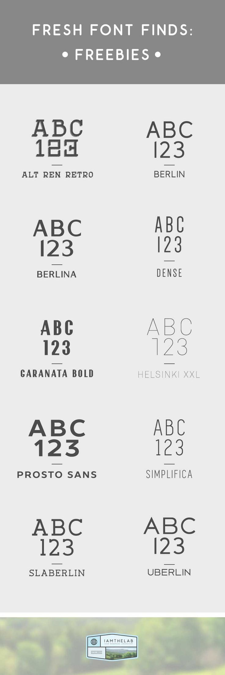 Free fonts on IAMTHELAB